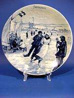 d466 Vintage Royal Delft Wall Plate Westraven JANUARY