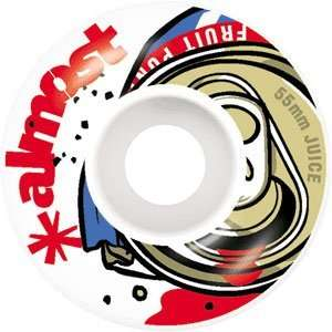 Almost Fruit Juice 55mm White/Red Skateboard Wheels (Set