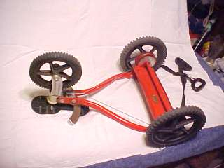 RARE VINTAGE HAND PROPELLED 3 WHEEL BICYCLE BIKE