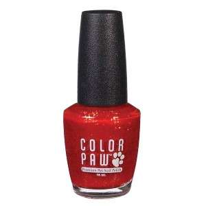 Color Paw Fast Drying Pet Dog Nail Polish Red Sparkle