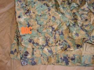 USMC Marine Corps Military Surplus MARPAT Coyote Brown Field Tarp ILBE